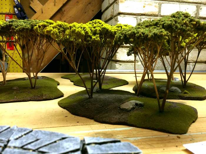 Warhammer Tabletop Wargaming Terrain WoodElf Forest Trees View