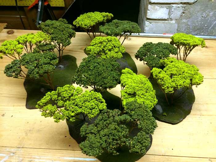 Warhammer Tabletop Wargaming Terrain WoodElf Forest Trees Assembled
