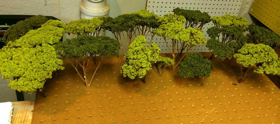 Warhammer Tabletop Wargaming Terrain WoodElf Forest Trees