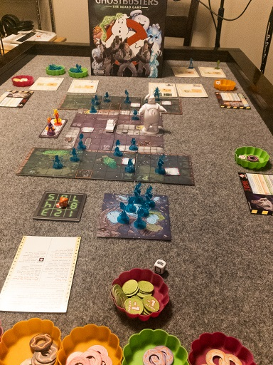Board Game Brunch: Ghostbusters Game Set-up