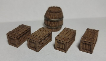 Episode 82: Barrels and crates that were 3D printed and painted