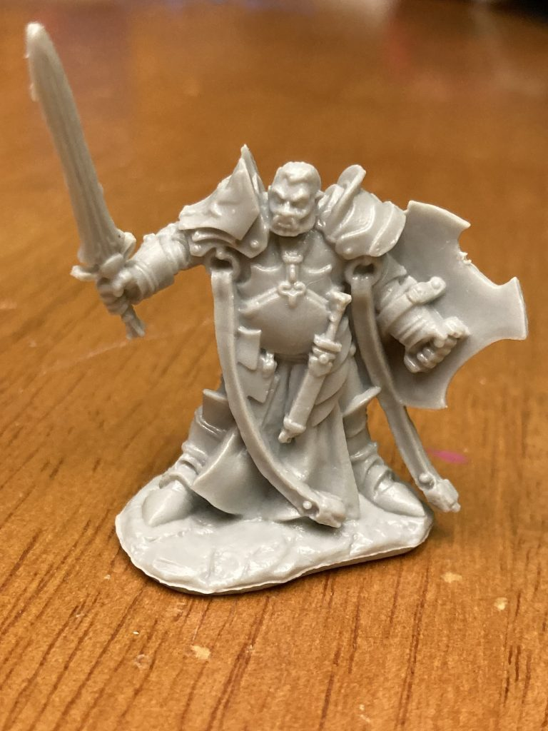Image if of unpainted D&D character Justin will be painting