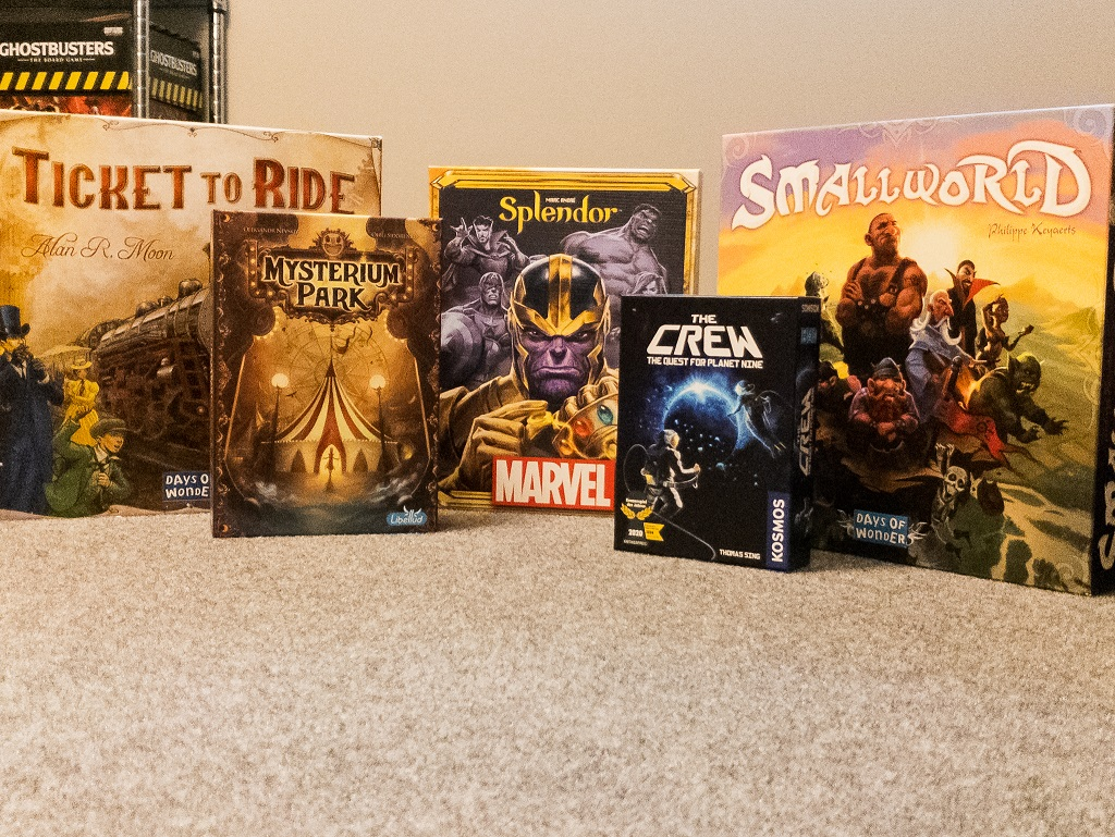 Image of 5 Game Boxes