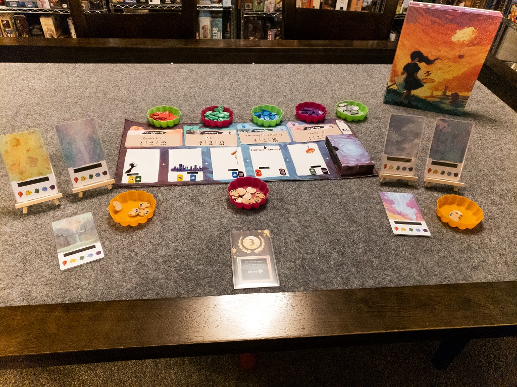 Image is of Canvas Game Set-up