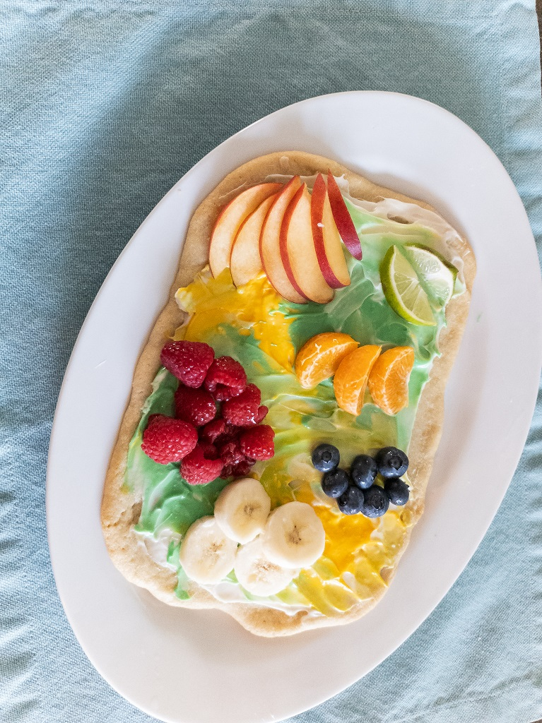 Image is of Art Work Fruit Pizza
