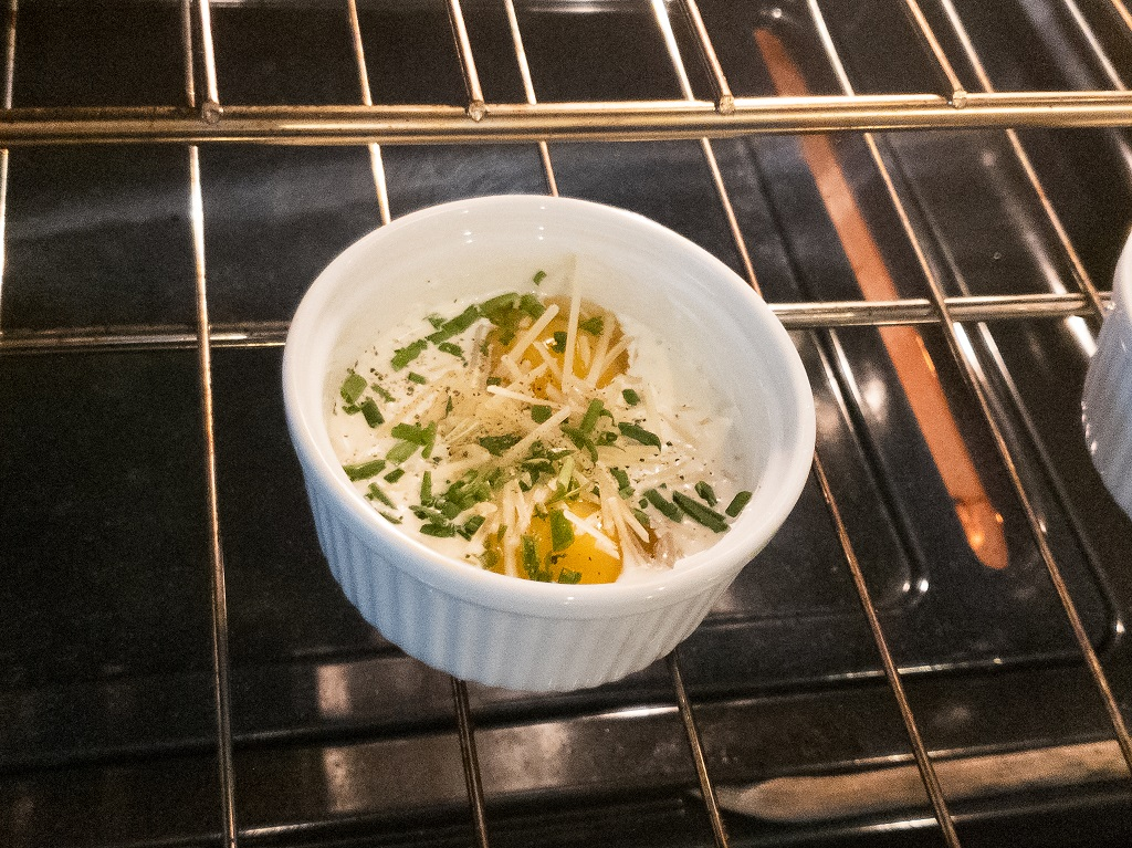 Image of Board Game Brunch: Shirred Eggs in Oven