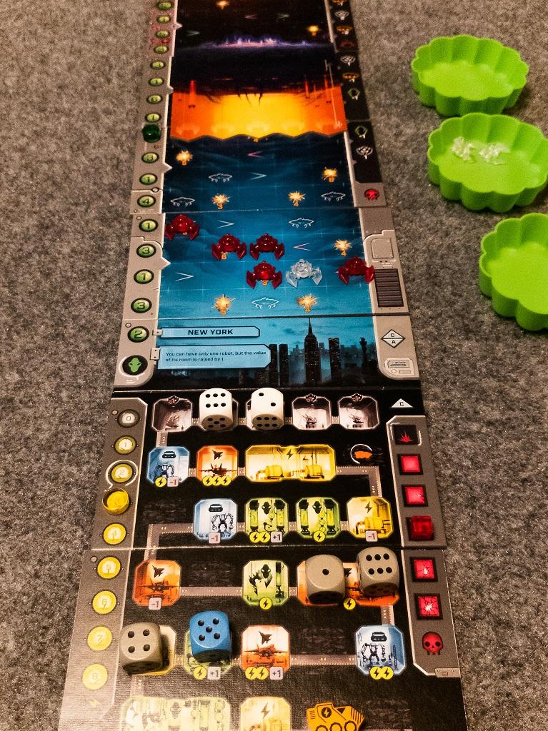 Image is of Under Falling Skies Game Play