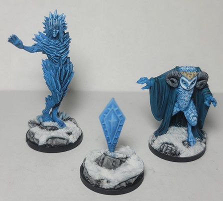 Image is of Auril The Frostmaiden in Her Three Forms