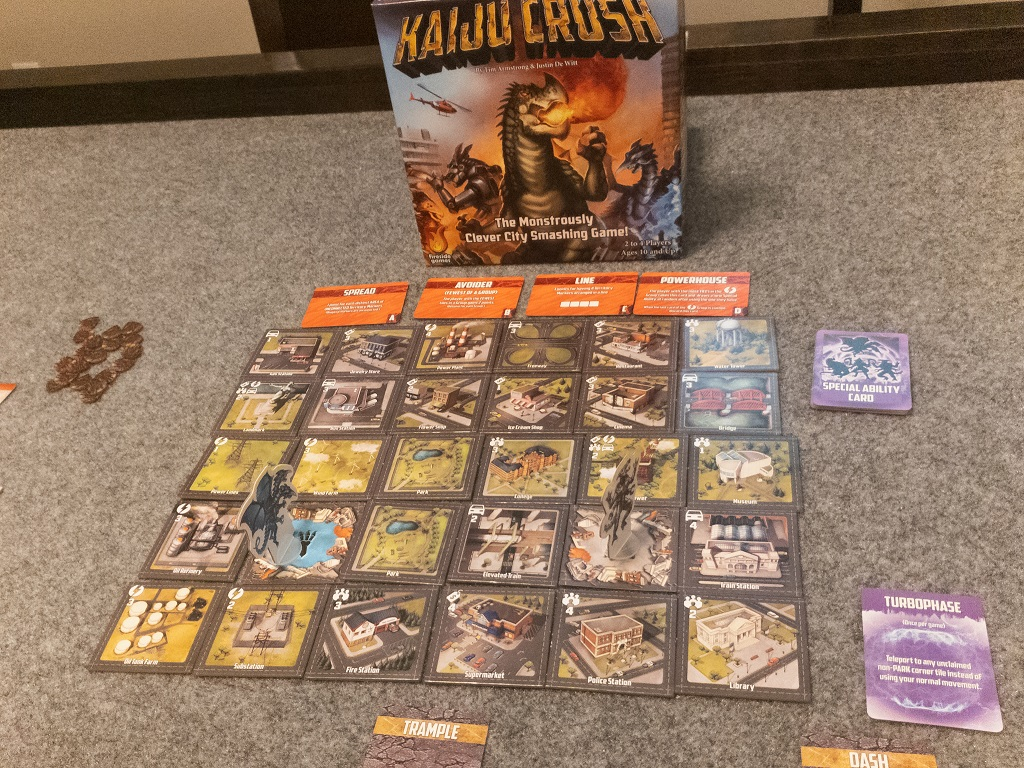 Image is of Kaiju Crush Set-up