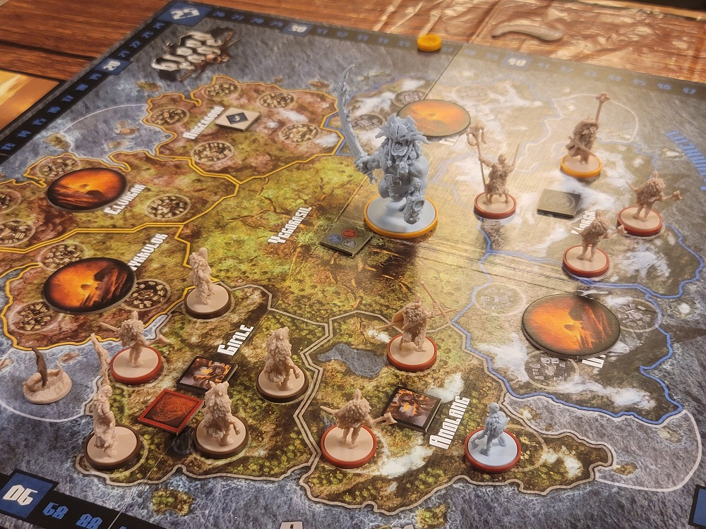Image of Blood Rage Gameplay which was discussed in Episode 83