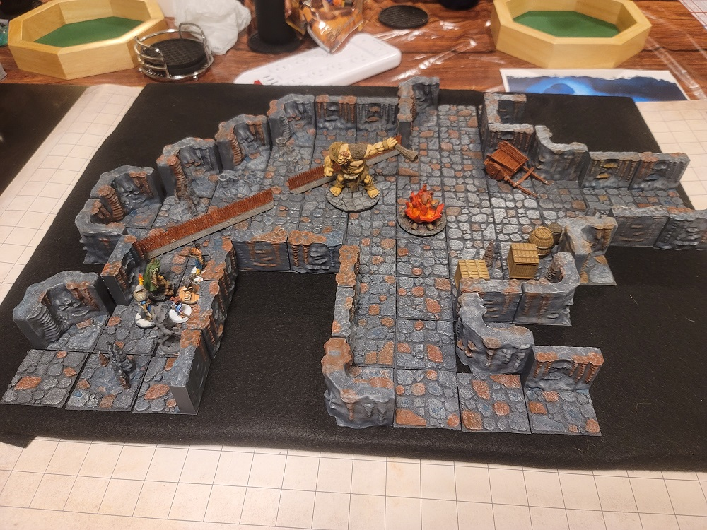 Image of D&D Dungeon with 3D printed tiles