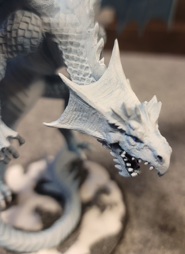 Image is of Adult White Dragon for D&D