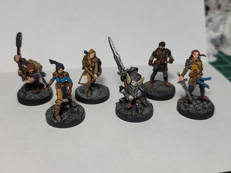 Image is of Some Adventurers/Bandits for D&D play