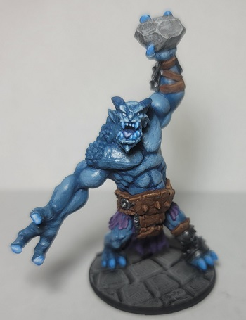Image is of D&D Ice Troll