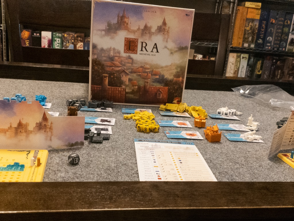 Image is of Game Set-Up for Era: Medieval Age