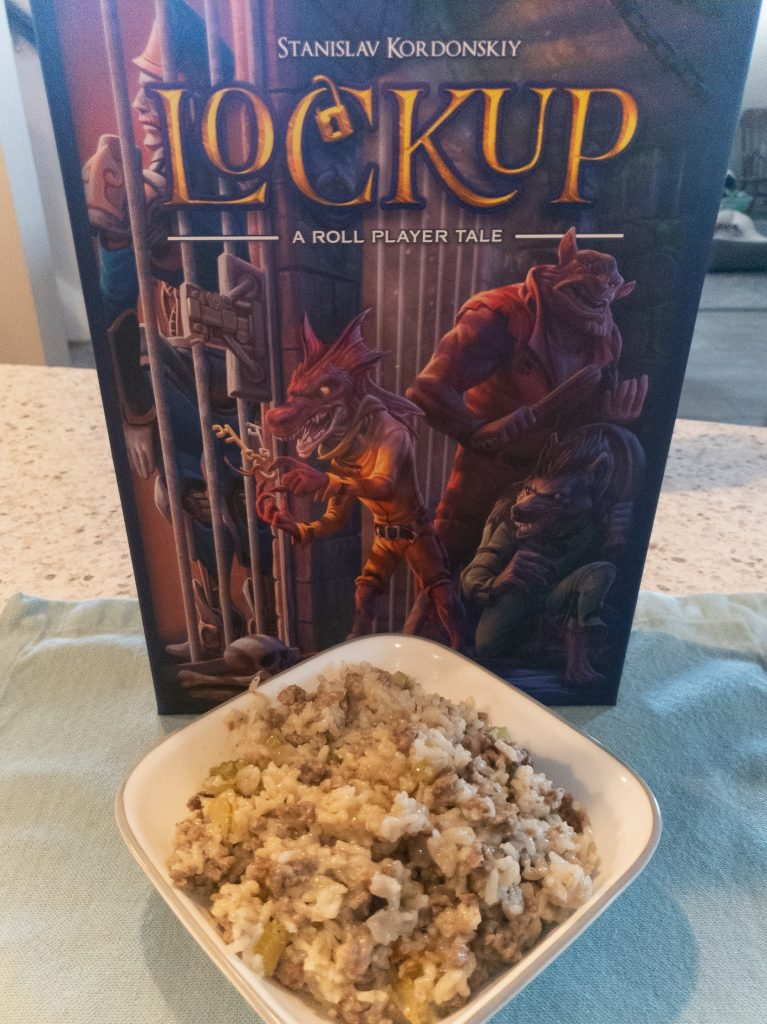 Image is of Board Game Brunch - Jailhouse Rice and Lockup game box