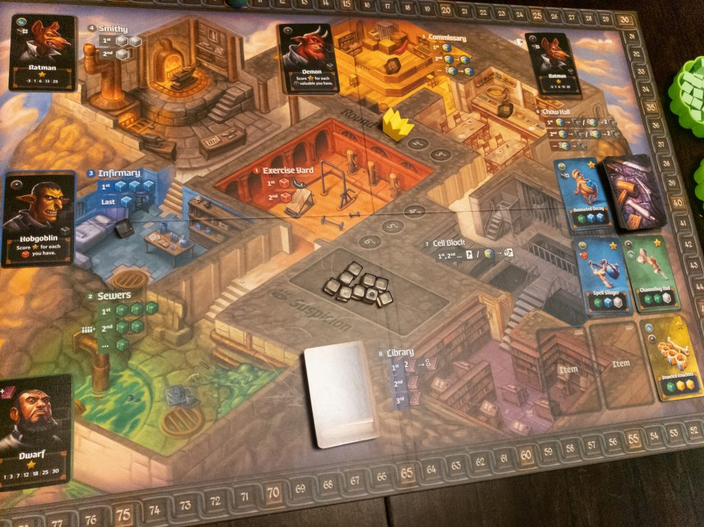 Image is of Lockup Game Set-up