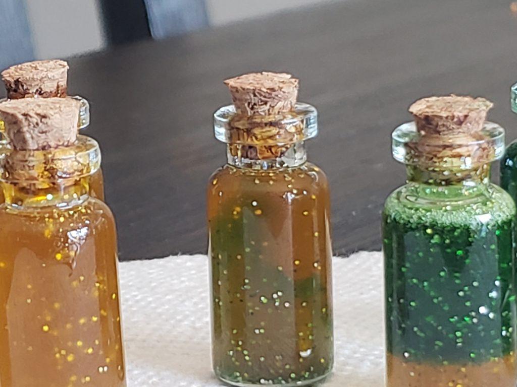 image of resin potion bottles